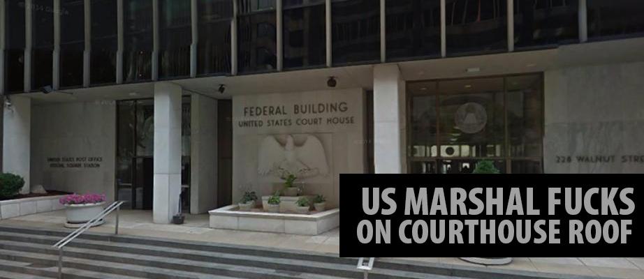 US Marshal Fucks on Courthouse Roof