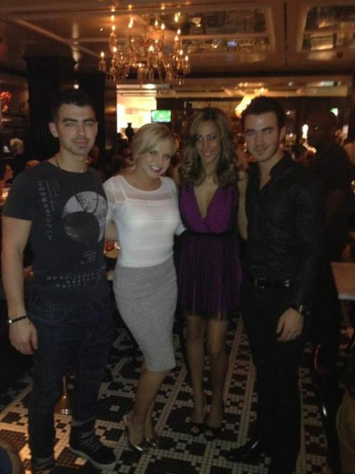 Bree Olson with the Jonas Brothers