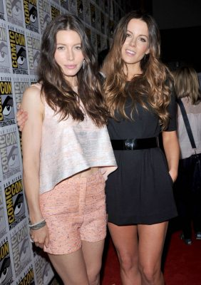 Jessica Biel and Kate Beckinsale at Comic Con