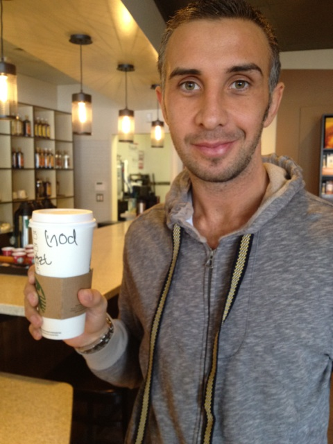 Keiran Lee at Starbucks Twitter Picture