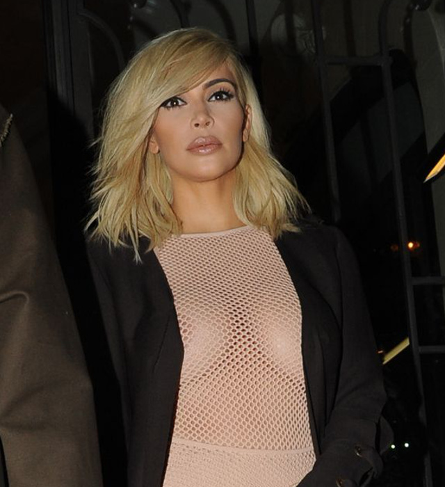 Kim Kardashian Blonde and Boobs